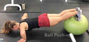 Plyo Ball Push Up feet on ball hands on floor