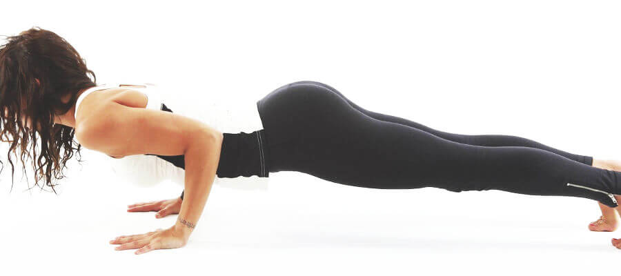 Fitness Motivation Image of Personal Trainer Performing A Push Up