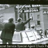 Chuck Patten Guarding President Foed