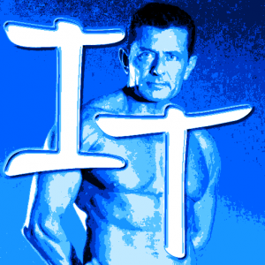 Iron Trainer Favicon fitness trainer image and letters I and T