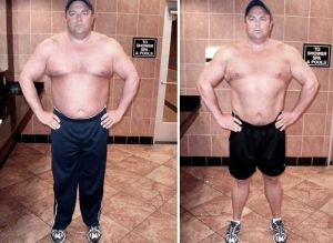 Tom personal trainer client before and after image testimonial