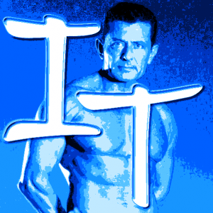 favicon with personal trainer image and letters I and T