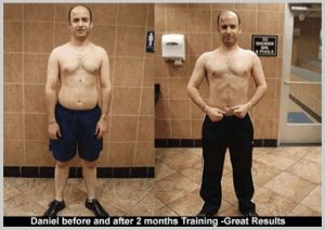 daniel personal trainer client image before and after