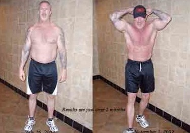 Personal Trainer Client Testimonial photo of weight loss and muscle definition