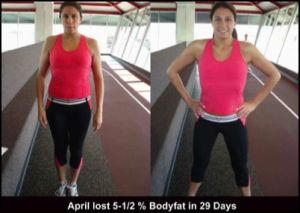 April client testimonial for personal trainer