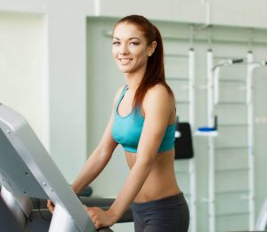 walking Cardio Training on a treadmill
