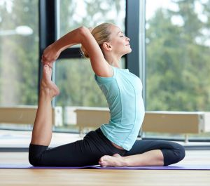 image of a fitness trainer stretching