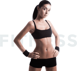 female fitness girl arms at Side