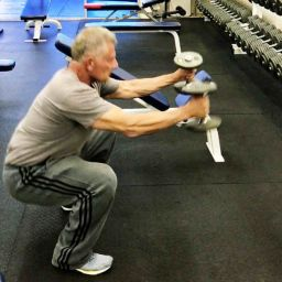Personal Trainer performs a Jump Squat
