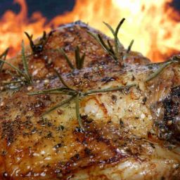 barbecued chicken image with seasoning