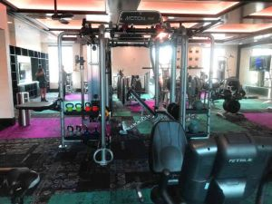 combination weight equipment with pull up bars cables kettlebell stand