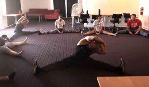 dynamic straddle stretch for inner thigh flexibility