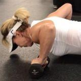 woman performing push up