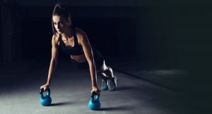 Push up with kettlebells for In Home Personal Training